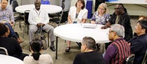 Un groupe de discussion durant le 43e Conseil général de l'ÉUC.